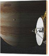 New Horizons Flies By Jupiter Wood Print