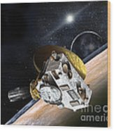 New Horizons Spacecraft At Pluto Wood Print