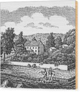New Jersey Farm, C1810 Wood Print