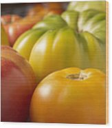 New Jersey Heirloom Tomatoes Wood Print