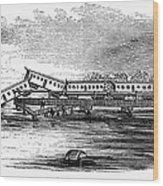 New Jersey: Train Wreck Wood Print