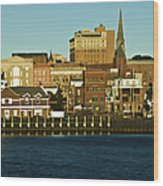 New London Waterfront Wood Print