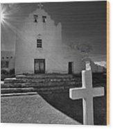 New Mexico Church Wood Print