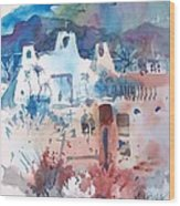 New Mexico Mission Wood Print