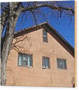 New Mexico Series - Adobe Building Wood Print