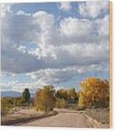 New Mexico Series - Autumn Clear Wood Print