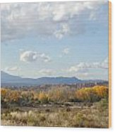 New Mexico Series - Autumn Landscape Wood Print