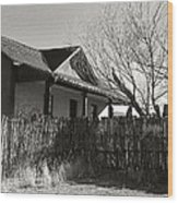 New Mexico Series - Fenced In House Wood Print