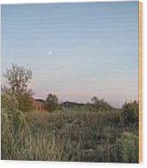 New Mexico Series - Moonrise Wood Print