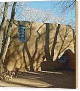 New Mexico Series - Shadows On Adobe Wood Print