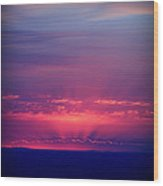 New Mexico Sky Colors Wood Print