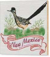 New Mexico State Bird The Greater Roadrunner Wood Print