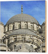 New Mosque Domes In Istanbul Wood Print