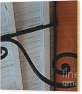 New Oleans White And Orange Wood Print