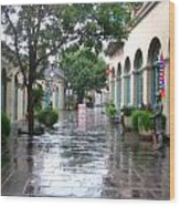 New Orleans After Rain Wood Print