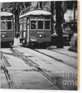 New Orleans Classic Streetcars. Wood Print