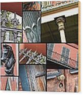 New Orleans Collage 1 Wood Print