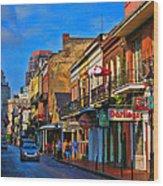 New Orleans Street Scene Wood Print