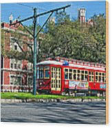 New Orleans Streetcar 2 Wood Print