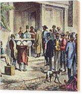 New Orleans: Voting, 1867 Wood Print