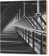 New River Gorge Bridge Catwalk Wood Print