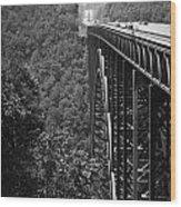 New River Gorge Bridge Fayetteville West Virginia Wood Print