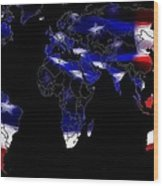 New World Map Wood Print
