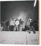 New Year At The Berlin Wall Wood Print