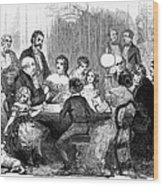 New Years Party, 1857 Wood Print
