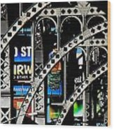New York Abstract 1 Wood Print