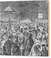 New York: Bandstand, 1869 Wood Print