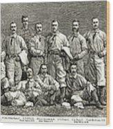 New York Baseball Team Wood Print