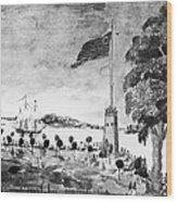 New York: Battery, 1793 Wood Print