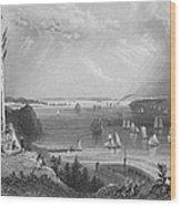 New York Bay, 1838 Wood Print