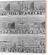New York: Broadway, 1851 Wood Print