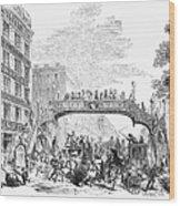 New York: Broadway, 1852 Wood Print