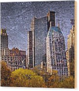 New York Buildings Wood Print