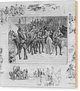 New York: Camp Wikoff, 1898 Wood Print