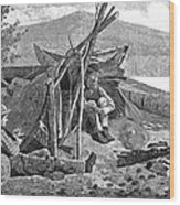New York: Camping, 1874 Wood Print