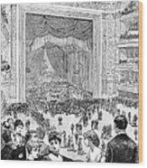 New York Charity Ball, 1884 Wood Print