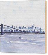 New York City Blues Wood Print