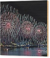 New York City Celebrates The 4th Wood Print by Susan Candelario