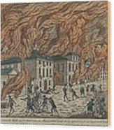 New York City Fire Of September 21-22 Wood Print