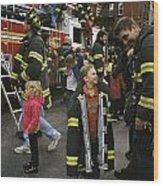 New York City Firefighters Host Wood Print