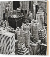 New York City From Above Wood Print