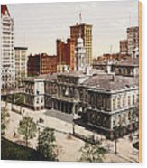 New York City Hall - 1900 Wood Print
