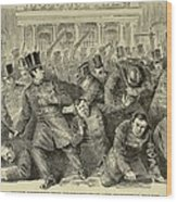 New York City Police Riot Of 1857. Riot Wood Print