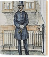 New York City Policeman Wood Print