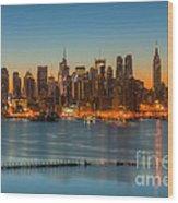 New York City Skyline Morning Twilight IIi Wood Print
