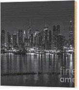 New York City Skyline Morning Twilight Xvi Wood Print